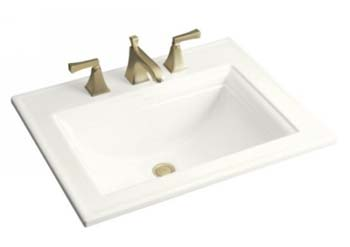 Kohler K-2337-1-0 Memoirs Self-Rimming Lavatory With Stately Design - White