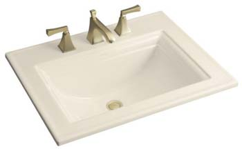 Kohler K-2337-4-47 Memoirs Self-Rimming Lavatory With Stately Design and 4