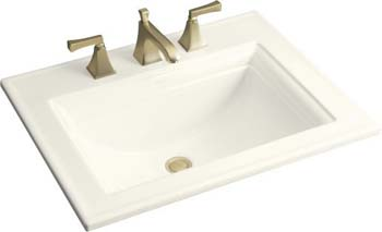 Kohler K-2337-4-96 Memoirs Self-Rimming Lavatory With Stately Design and 4