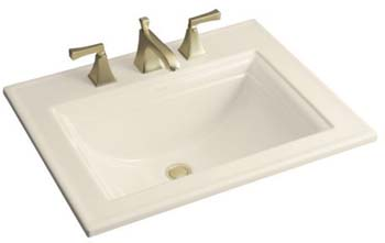 Kohler K-2337-4-7 Memoirs Self-Rimming Lavatory With Stately Design and 4