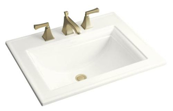 Kohler K-2337-4-0 Memoirs Self-Rimming Lavatory With Stately Design and 4