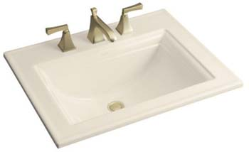 Kohler K-2337-8-47 Memoirs Self-Rimming Lavatory With Stately Design and 8