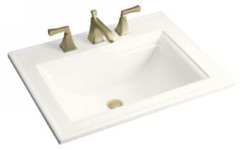 Kohler K-2337-8-0 Memoirs Self-Rimming Lavatory With Stately Design and 8