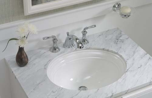 Kohler K-2350-95 Devonshire Undercounter Lavatory - Ice Grey (Pictured in White)
