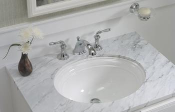 Kohler K 2350 0 Devonshire 17 Undermount Lavatory Sink White