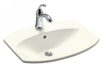 Kohler K-2351-1-96 Cimarron Self-Rimming Lavatory - Biscuit (Faucet Not Included)