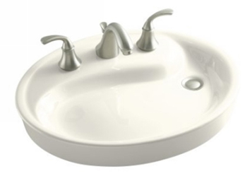 Kohler K-2354-1-96 Yin Yang Wading Pool Lavatory With Overflow - Biscuit (Faucet Not Included)