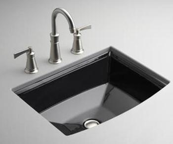 Kohler Archer Undermount Bathroom Sink : Kohler K-2355-7 Archer Undercounter Lavatory - Black - FaucetDepot.com
