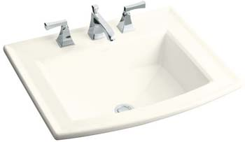 Kohler K-2356-1-96 Archer Self-Rimming Lavatory - Biscuit