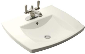 Kohler K-2381-1-0 Kelston Self-Rimming Lavatory With Single-Hole Faucet Drilling - White