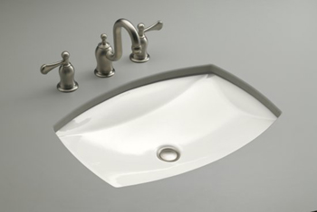 Kohler K-2382-0 Kelston Undercounter Lavatory - White (Faucet Not Included)