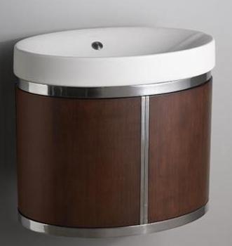 Kohler K-2392-LAW Strela Wall-Hung Vanity - Light Antique Walnut