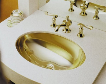 Kohler K-2602-MF Rhythm Undercounter Oval Lavatory - Mirror French Gold (Faucet Not Included)