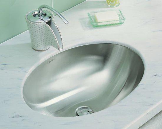 Kohler K 2602 Su Na Rhythm 23 Undermount Stainless Steel Lavatory Sink Satin