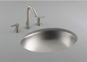 Kohler K-2608-NA Bachata Undercounter Lavatory Sink - Stainless Steel