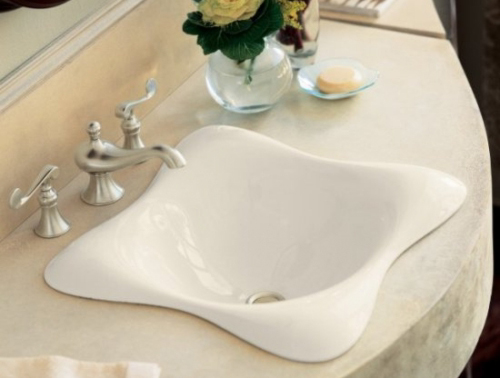 Kohler K-2815-47 Dolce VIta Self-Rimming Lavatory - Almond (Faucet Not Included)