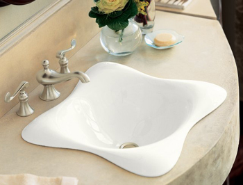 Kohler K-2815-0 Dolce VIta Self-Rimming Lavatory - White (Faucet and Accessories Not Included)