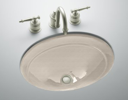 Kohler K-2824-FD Serif Undercounter Lavatory - Cane Sugar (Faucet Not Included)