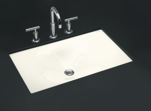 Kohler K-2826-96 Iron/Tones Self-Rimming/Undercounter Lavatory - Biscuit (Faucet Not Included)
