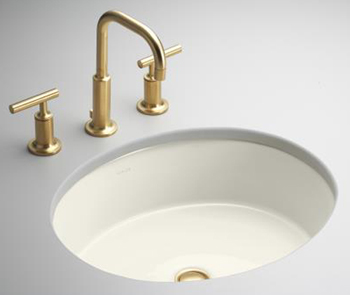 Kohler K-2881-96 Single Basin Undercounter Lavatory from the Verticyl Collection - Biscuit