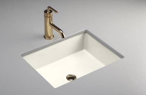 Kohler K 2882 96 Verticyl Single Basin Rectangular Undercounter Lavatory Biscuit Faucet Not