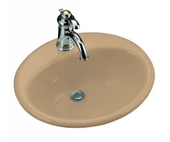Kohler K-2905-1-33 Farmington Self-Rimming Lavatory - Mexican Sand (Faucet Not Included)