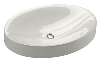 Kohler K-2952-N-HW1 Vanity Top Lavatory without Overflow from the Strela Collection - Honed White