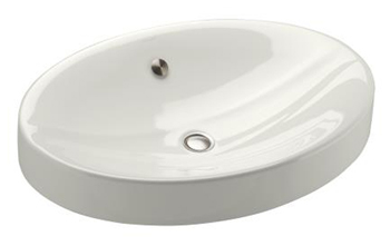 Kohler K-2952-0 Vanity Top Lavatory from the Strela Collection - White