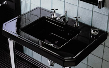 Kohler K-3020-BK Kathryn Fireclay Tabletop - Black