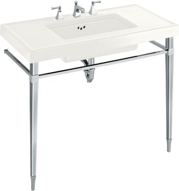Nice Kohler K 3029 0 Kathryn Console Firecaly Tabletop   White