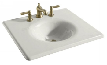 Kohler 24 bathroom vanity on home depot bathroom sinks and vanities - Kohler K 3048 8 0 Iron Impressions 25 Quot One Piece Surface