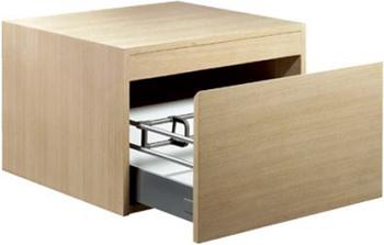 Kohler K-3080-F5 Purist Wall-Mount Cabinet - White Oak