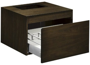 Kohler K-3081-F5 Purist Wall-Mount Vanity - White Oak