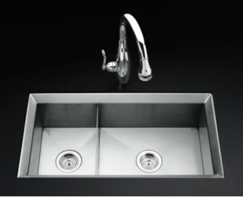 Kohler K-3160-NA  Poise Undercounter Double (Large/Medium) - Stainless Steel