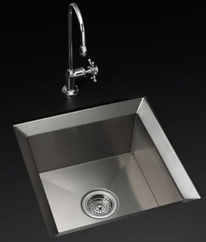 Kohler K-3161-NA Poise Undercounter Entertainment Sink - Stainless Steel