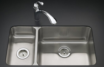 Kohler K-3174-L-NA Undertone Undercounter Double Compartment Kitchen Sink - Stainless Steel