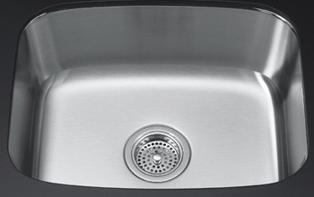Kohler K-3182-NA Undertone Geometric and Rounded Basin Undercounter Kitchen Sink- 7-5/8