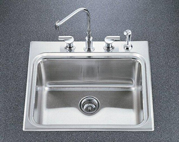 Kohler K-3206-4 Ballad Self-Rimming Utility Sink with Four-Hole Faucet Punching and 10