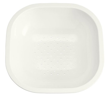Kohler K-3291-0 FDA Approved Polypropylene Front to Back Basin for Ravinia and Undertone Sinks - White