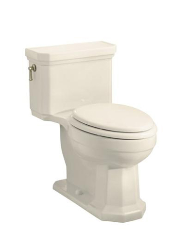 Kohler K-3324-47 Kathryn Comfort Height One-Piece Elongated Toilet, Less Seat - Almond