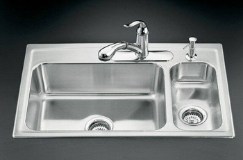 Kohler K 3347l 3 Na Toccata Self Rimming Kitchen Sink High