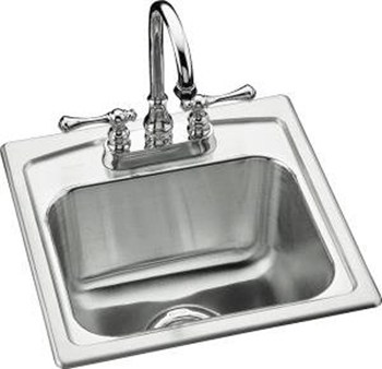 Kohler K-3349-1-NA Toccata Self-Rimming Entertainment Sink - Stainless Steel
