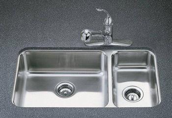 Kohler k 3352 na undertone undercounter double compartment - Undermount 3 compartment kitchen sinks ...