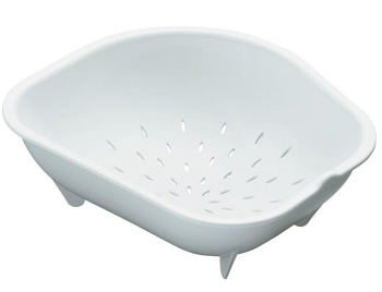 Kohler K-3364-7 Colander for Staccato Large or Medium Sinks - Black (Pictured in White)