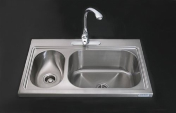 Kohler K-3374-3-NA Pro TaskCenter Stainless Steel Kitchen Sink Double Compartment - Stainless Steel (Faucet Not Included)