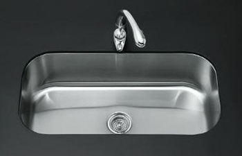 Kohler K 3376 Na Undertone Undercounter Single Compartment Rounded Kitchen Sink Stainless Steel