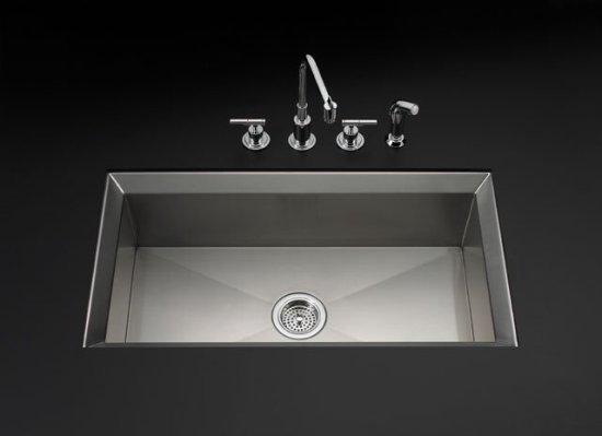 Kohler K-3387-NA Single Basin Stainless Steel Kitchen Sink from the ...