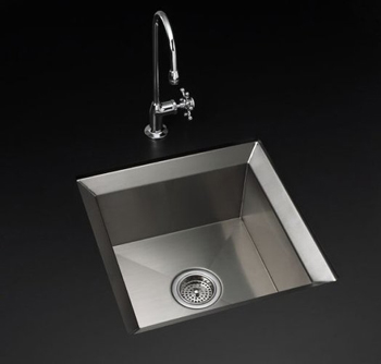 Kohler K-3391 Single Basin Stainless Steel Kitchen Sink from the Poise Series - Stainless Steel