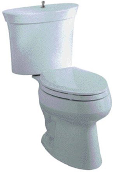 Kohler K-3444-6 Serif Elongated Combination Toilet - Skylight