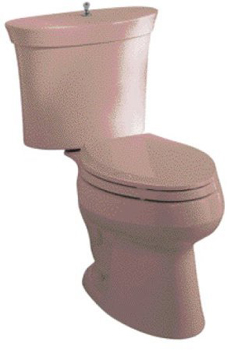 Kohler K-3444-45 Serif Elongated Combination Toilet - Wild Rose